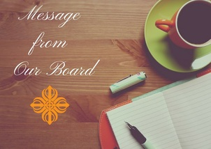 Message from our Board